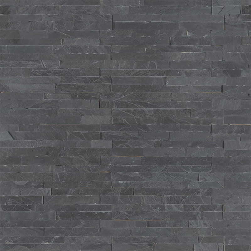 "MS International Mini Stacked Stone 4.50"" x 16"" Premium Black"