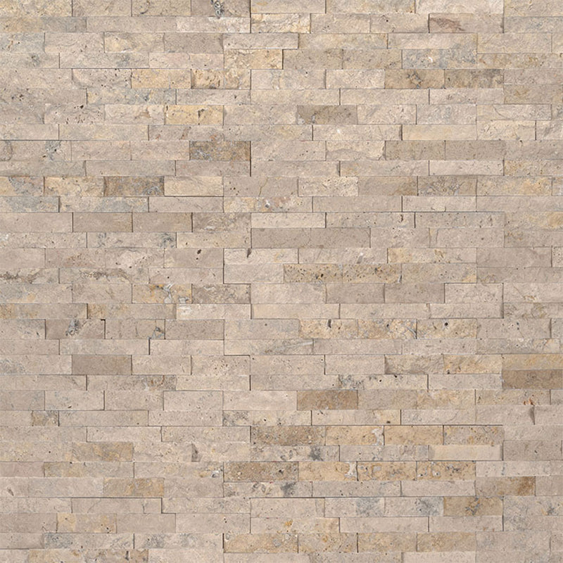 "MS International Mini Stacked Stone 4.50"" x 16"" Roman Beige"