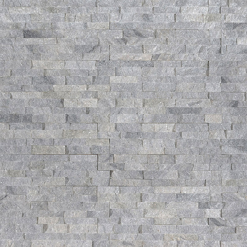 "MS International Mini Stacked Stone 4.50"" x 16"" Sky Gray"