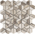 "Interceramic Marble Mosaic Split Hex 12"" x 12"""
