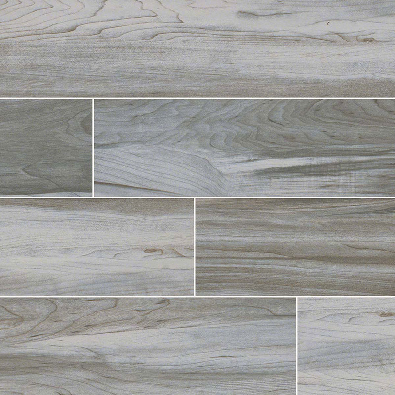 "MS International Carolina Timber 6"" x 36"" White"