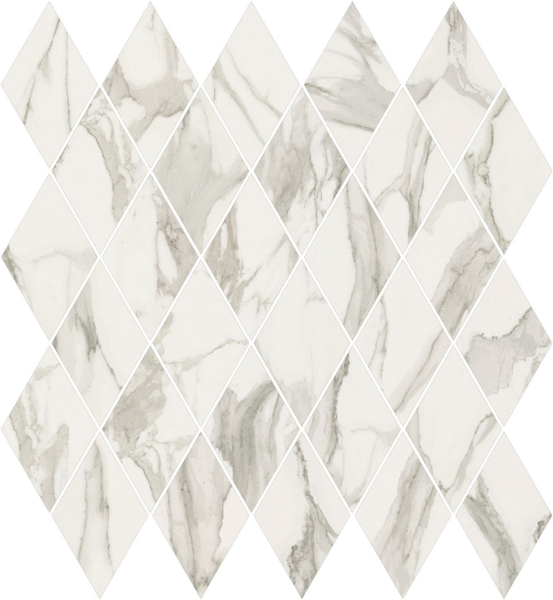 "Angel Collection Stratus 12.5"" x 13.5"" Rhomboid Grigio Natural"
