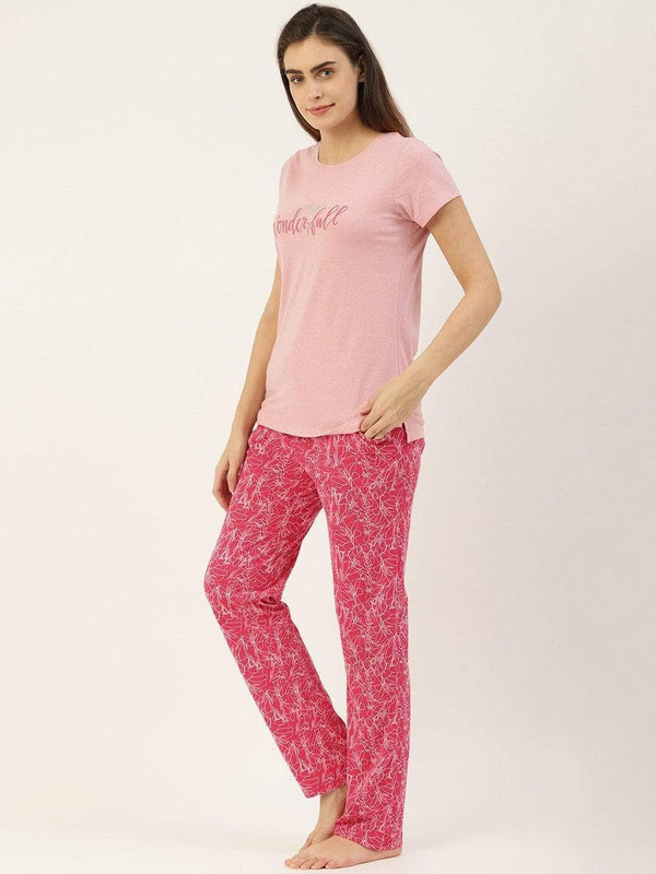 Wonderful Pink Pajama Set