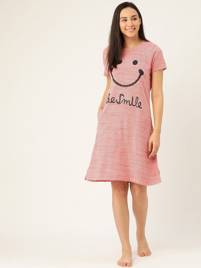 Be Smile Pink Nighty