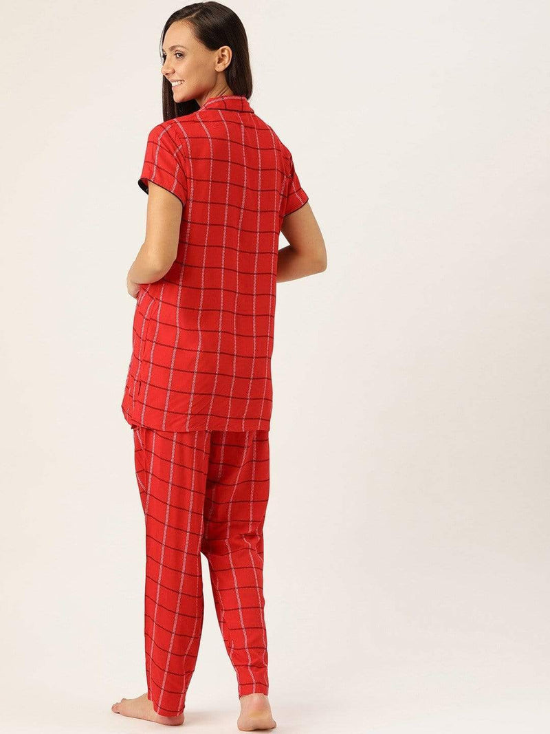 Affectionate Checks Pyjama Set