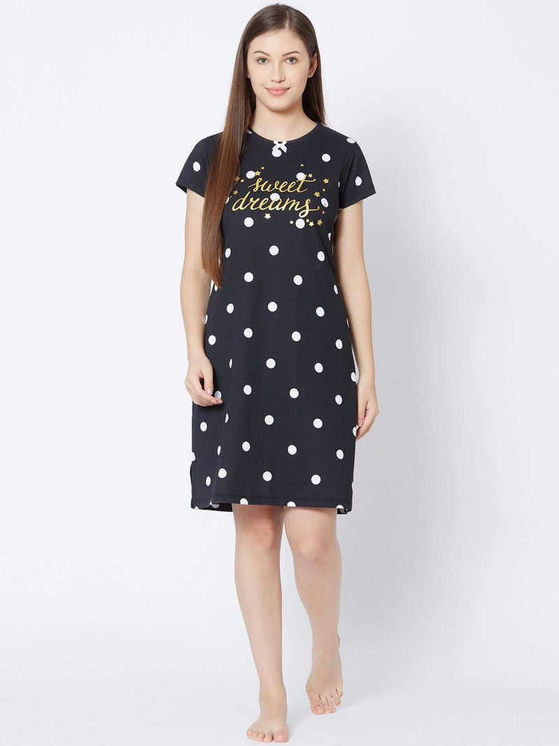 Dotted Love Short Nighty