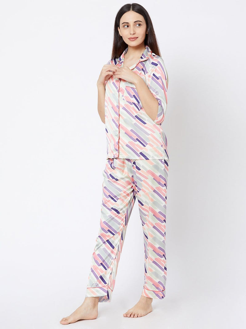 Pastel Strips Pyjama Set