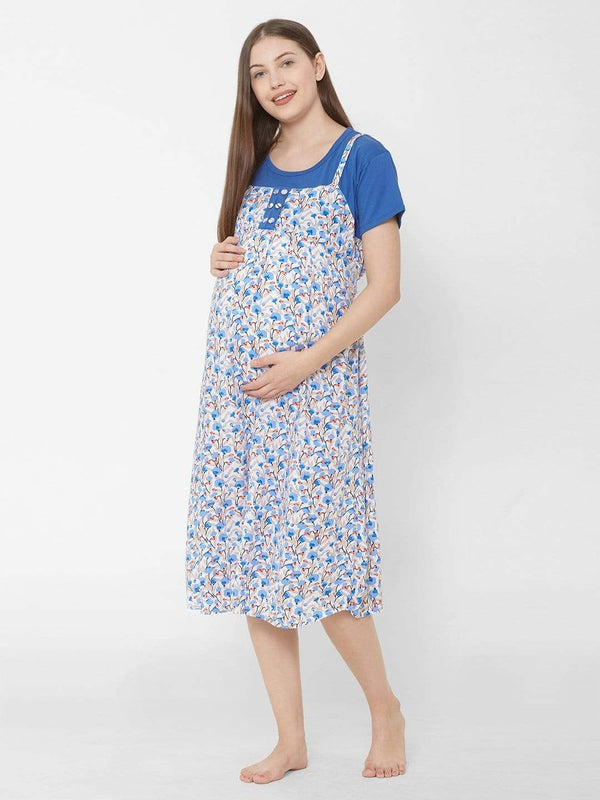Floral Maternity Nightdress