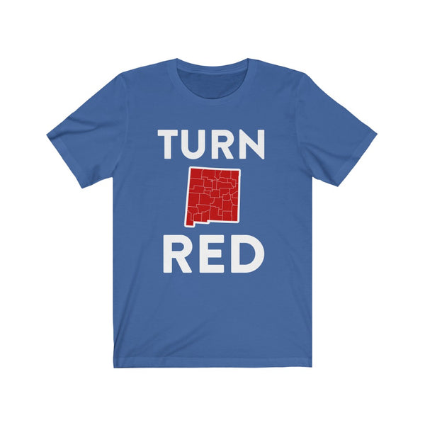 Turn New Mexico Red State Outline Tee