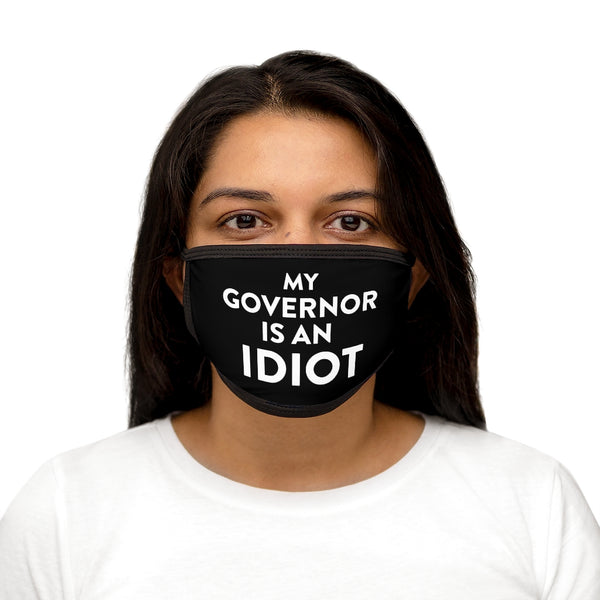 My Governor Is An Idiot Mixed-Fabric Face Mask - Black