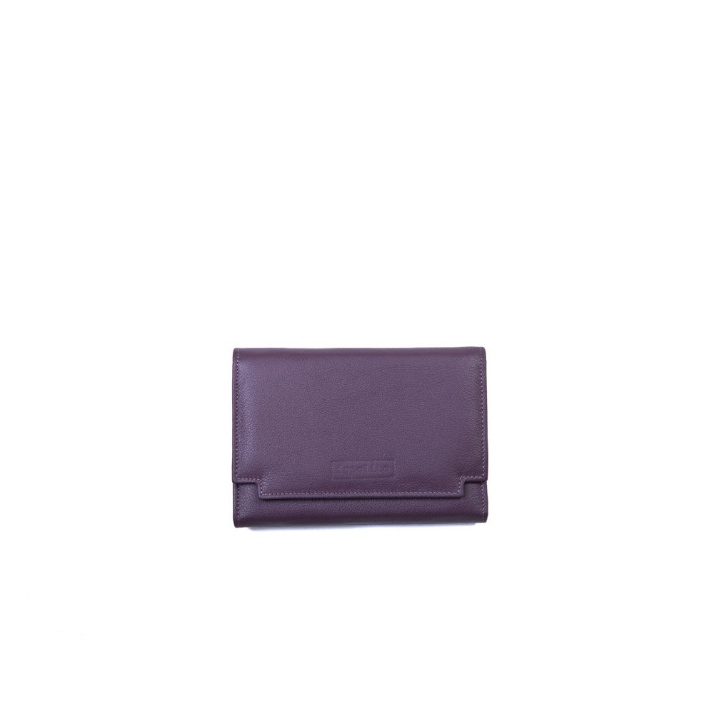 Rawan Wallet in Aubergine