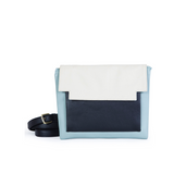 May Clutch in Cloud, Marble and Black