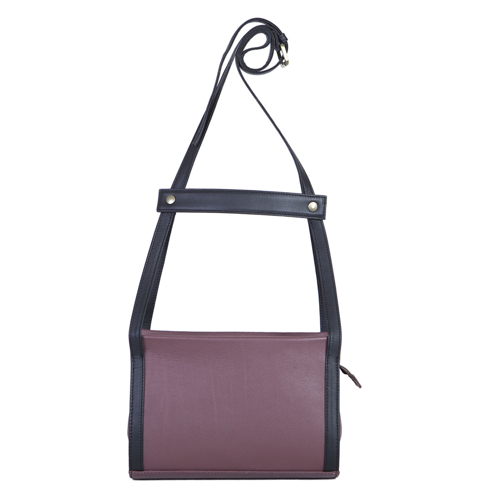 Chest Messenger in Grape & Black