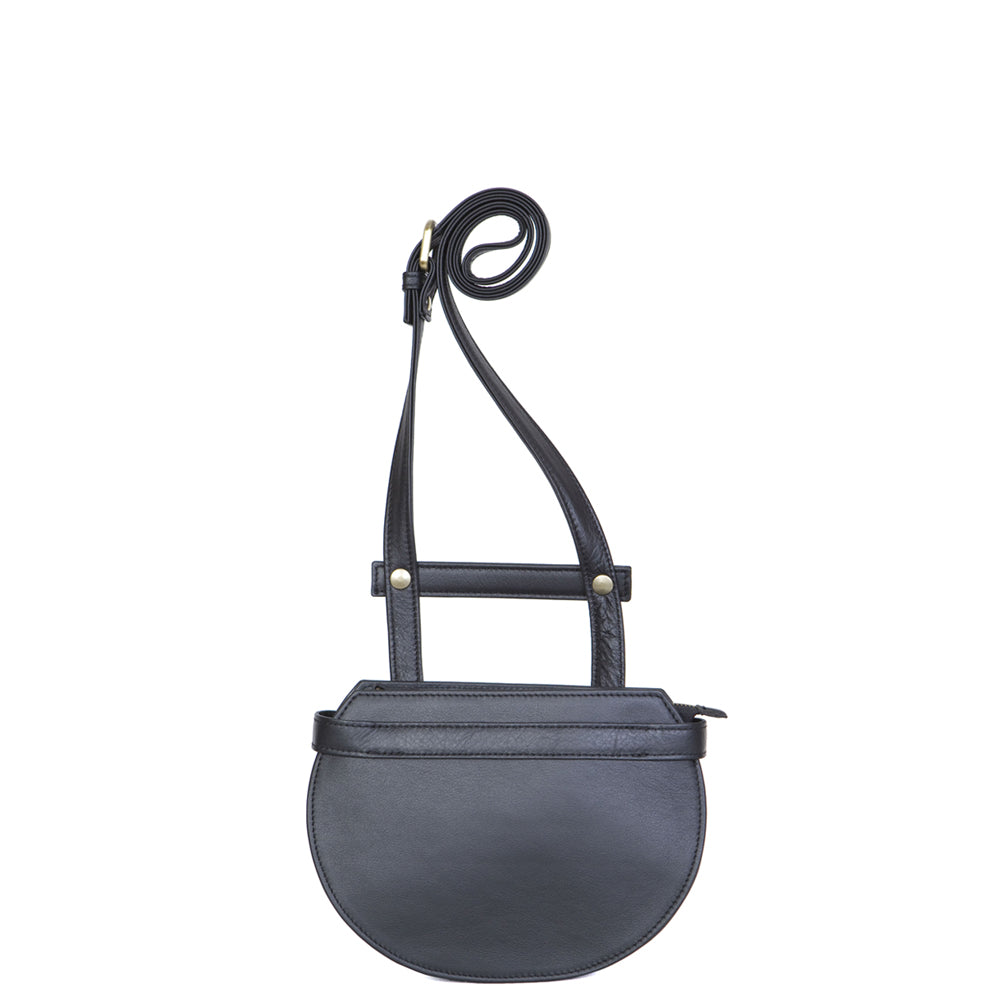 Gibbous Flat Bag in Total Black (small)