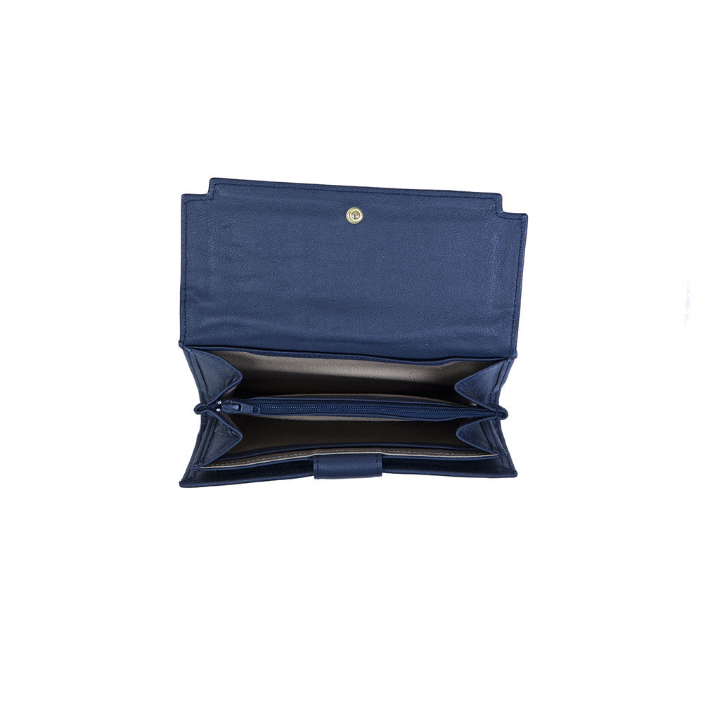 Zaira Wallet in Navy Blue