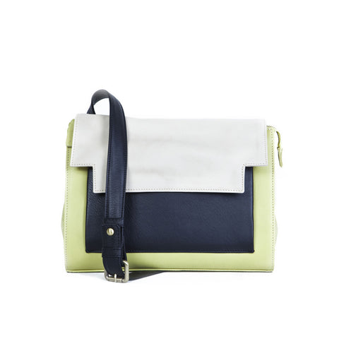 May Messenger in Lime, Marble and Black