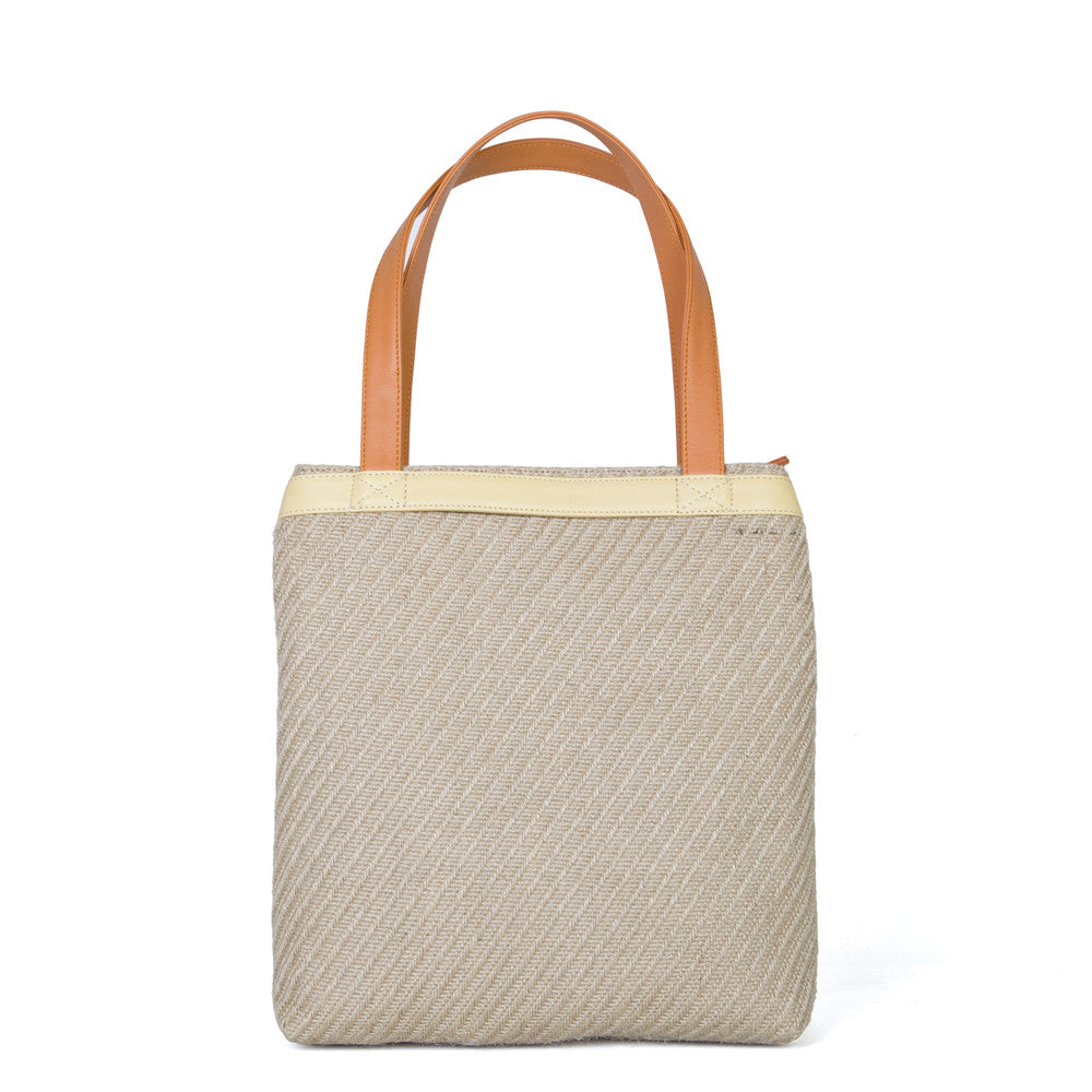 The Mini Folded in Natural Straw, Sun & Mandarin