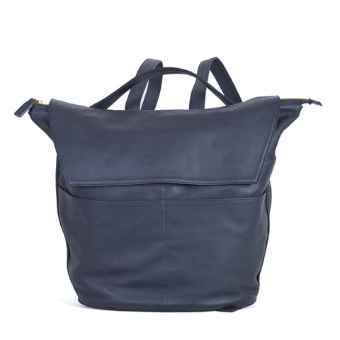 Maternity Backpack Bucket in Navy Blue