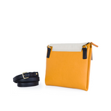 May Clutch in Apricot, Marble and Black