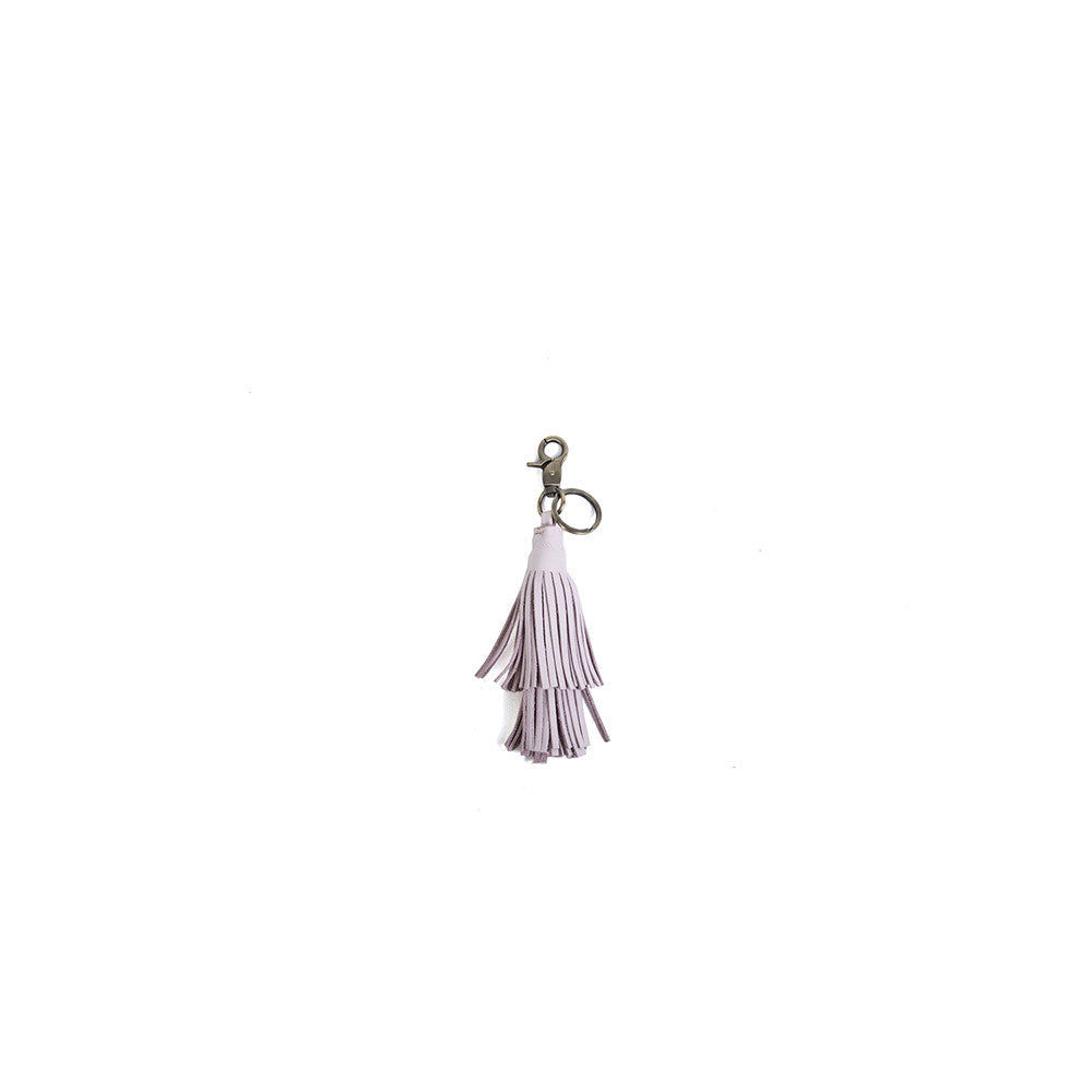 The Tassel Key Ring in Baby Pink