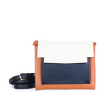May Clutch in Brandy, Marble and Black
