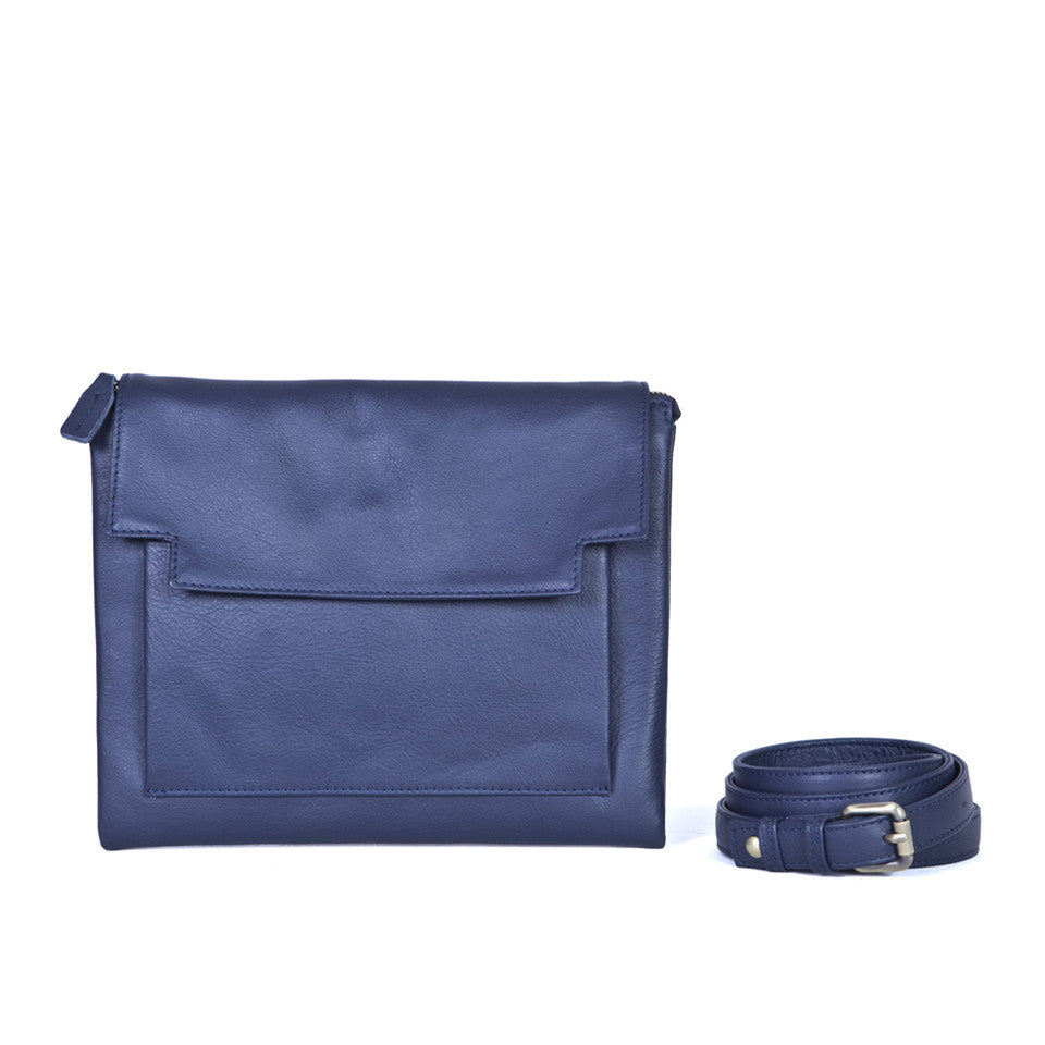 May Clutch in Navy Blue