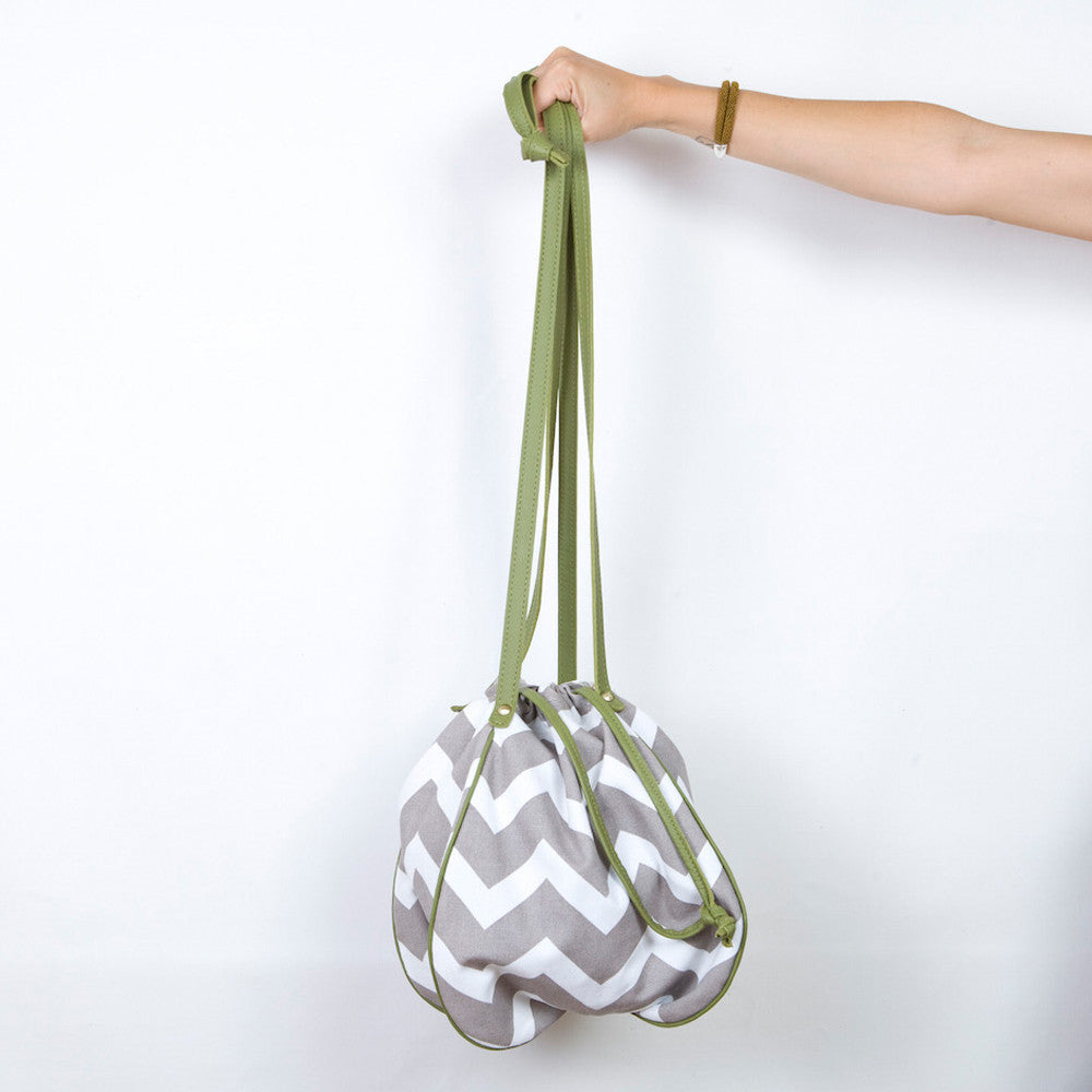 The Alecca Messenger Bag in Zig Zag