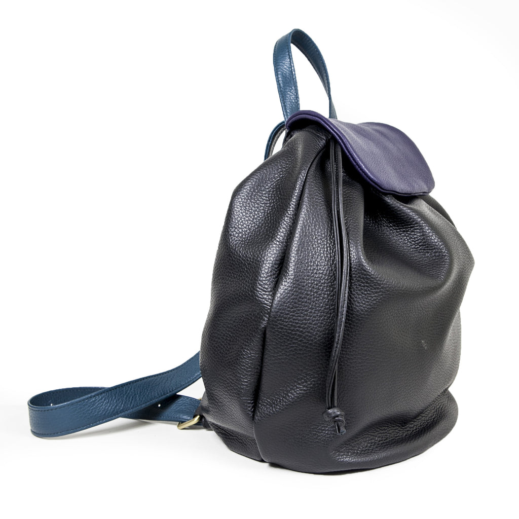 X Boogie - Jo Backpack in Black, Midnight Blue & Petrol Blue