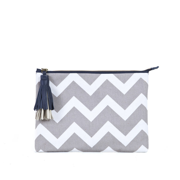 The Pliz Slip in Zig Zag & Navy Blue