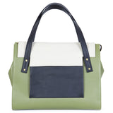 May Tote in Olive, Marble and Black