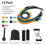11 PIECE RESISTANCE BANDS.