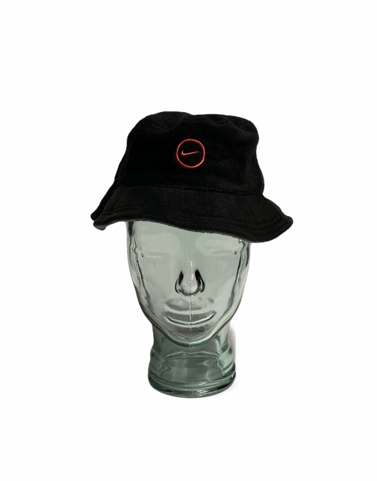Early 2000's Nike Fleece Bucket Hat in Black