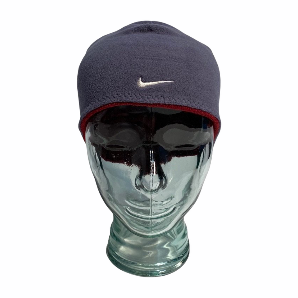 Early 2000's Nike Reversible Hat in Red & Grey