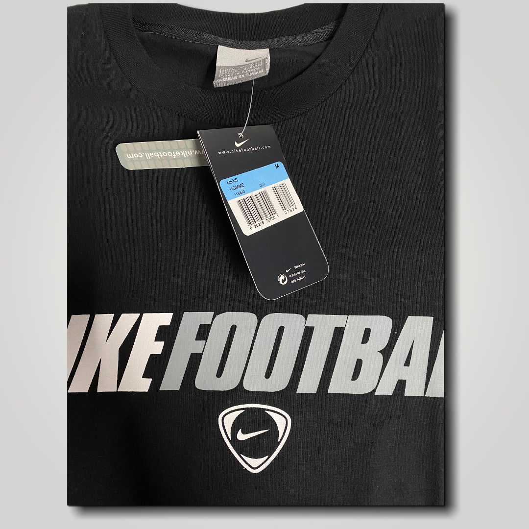 Early 2000's Nike Football T Shirt in Black