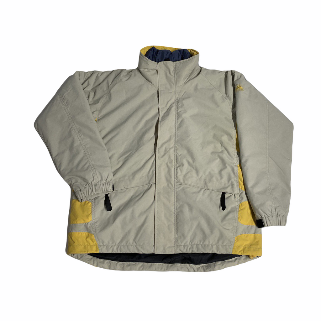 Early 2000's Nike ACG Jacket in Grey with Yellow Detail