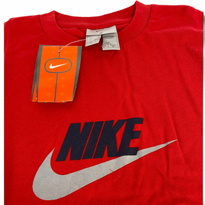 Early 2000's Nike Spell Out T-Shirt in Red