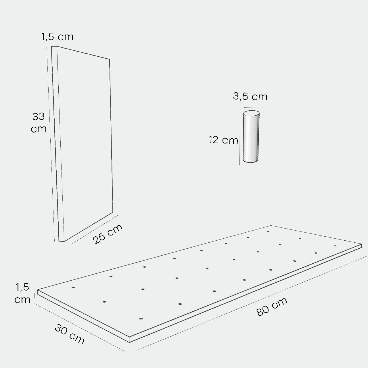 Horizontal shelf plate, 1-pack