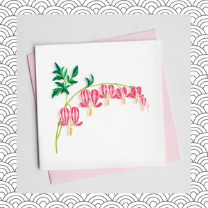 Bleeding Hearts - Quilling Card