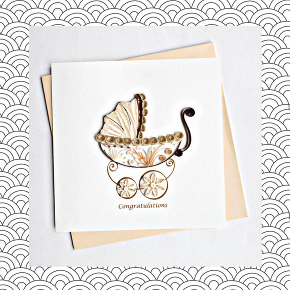 Baby Congratulations - Quilling Card