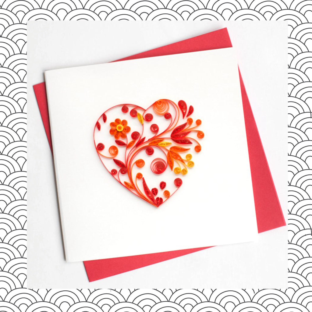 Heart Quilling Card Flavours Of Life