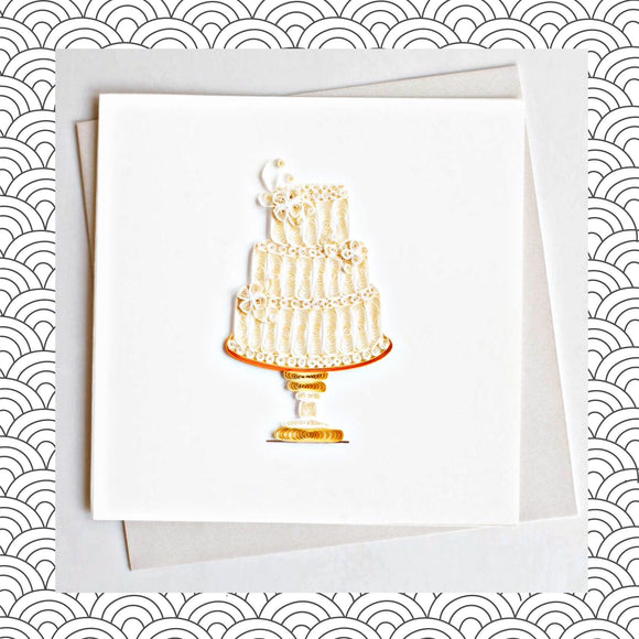 Wedding Cake - Quilling Card