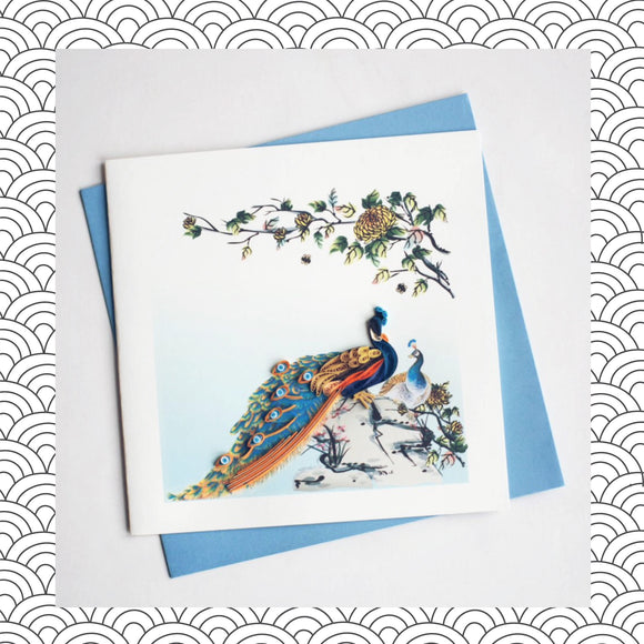 Peacock - Quilling Card