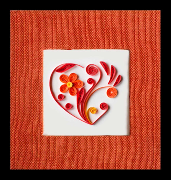 Heart Post It Note Book - Quilling Card