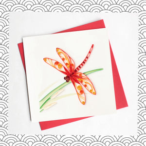 Dragonfly - Quilling Card
