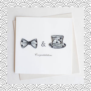 Groom & Groom - Quilling Card