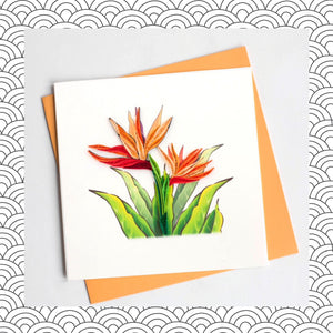 Tiger Lily - Quilling Card