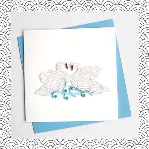 Swans - Quilling Card