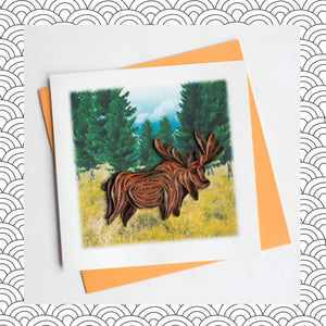 Moose - Quilling Card