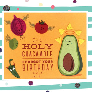 Birthday Guacamole - Recycled Paper Card