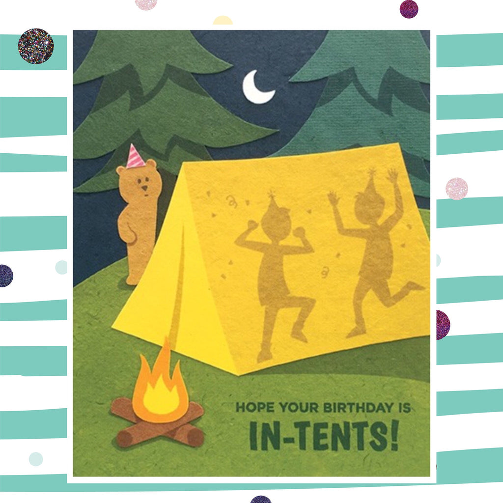 tent birthday recycled paper card flavours of life